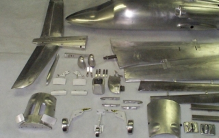 Wind tunnel model parts